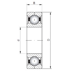 ISO Q232 angular contact ball bearings