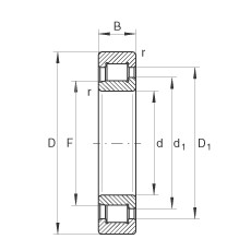 160 mm x 340 mm x 114 mm  INA SL192332-TB cylindrical roller bearings
