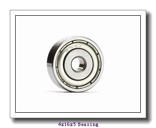 4 mm x 16 mm x 5 mm  ISO F634ZZ deep groove ball bearings