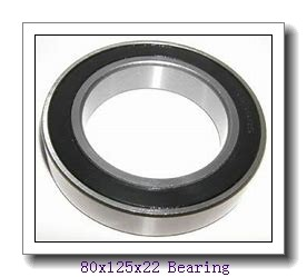80 mm x 125 mm x 22 mm  NSK 7016 C angular contact ball bearings