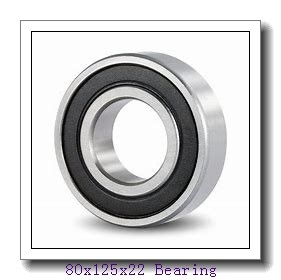 80 mm x 125 mm x 22 mm  KBC 6016 deep groove ball bearings
