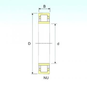 160 mm x 290 mm x 48 mm  ISB NU 232 cylindrical roller bearings
