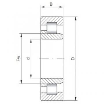160 mm x 340 mm x 114 mm  ISO NJ2332 cylindrical roller bearings