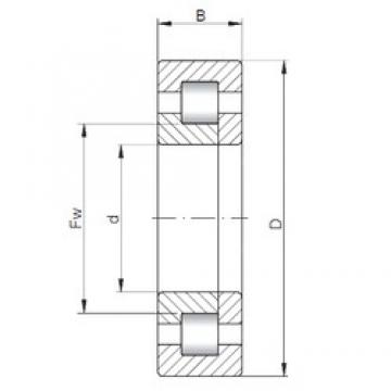 70 mm x 150 mm x 35 mm  ISO NUP314 cylindrical roller bearings