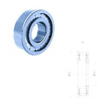 70 mm x 150 mm x 35 mm  Fersa NUP314FM/C3 cylindrical roller bearings