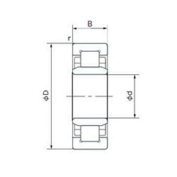 70 mm x 150 mm x 35 mm  NACHI NU314T cylindrical roller bearings