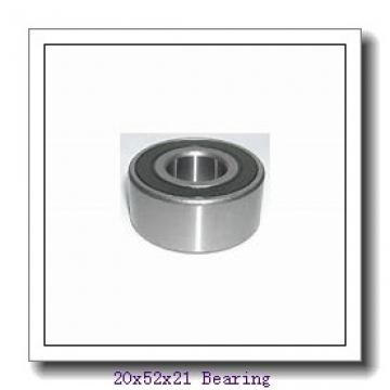 20 mm x 52 mm x 21 mm  PFI 62304-2RS C3 deep groove ball bearings