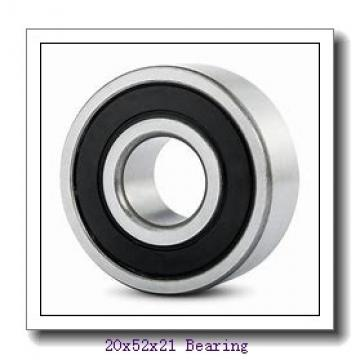 20 mm x 52 mm x 21 mm  ISO 4304-2RS deep groove ball bearings