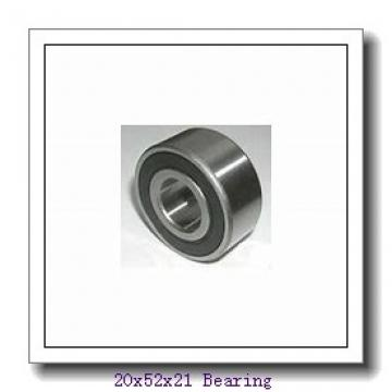 20 mm x 52 mm x 21 mm  NACHI NJ 2304 E cylindrical roller bearings