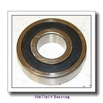 30 mm x 72 mm x 19 mm  ISO NUP306 cylindrical roller bearings