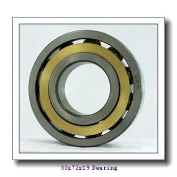 30 mm x 72 mm x 19 mm  NSK QJ306 angular contact ball bearings
