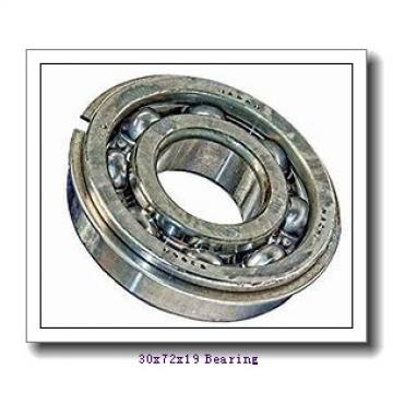 30 mm x 72 mm x 19 mm  FAG 7306-B-2RS-TVP angular contact ball bearings