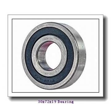 30 mm x 72 mm x 19 mm  KBC 6306UU deep groove ball bearings
