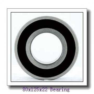 80 mm x 125 mm x 22 mm  NSK 6016NR deep groove ball bearings