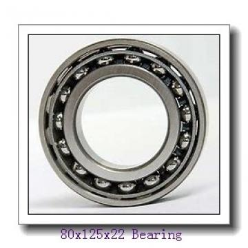 80 mm x 125 mm x 22 mm  SKF S7016 CD/HCP4A angular contact ball bearings