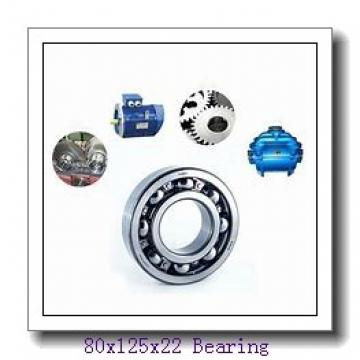 80 mm x 125 mm x 22 mm  NTN NJ1016 cylindrical roller bearings