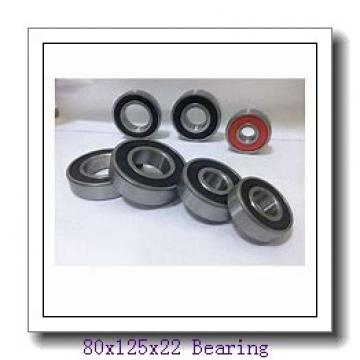 80 mm x 125 mm x 22 mm  KOYO 6016ZZ deep groove ball bearings