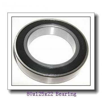 80 mm x 125 mm x 22 mm  FBJ 6016 deep groove ball bearings
