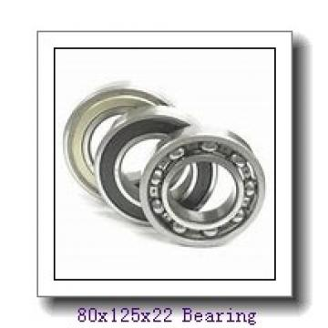 80 mm x 125 mm x 22 mm  KOYO HAR016C angular contact ball bearings