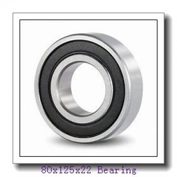 80 mm x 125 mm x 22 mm  NTN 6016NR deep groove ball bearings
